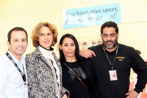 Avec Anne Marie Hugas adjointe au sport