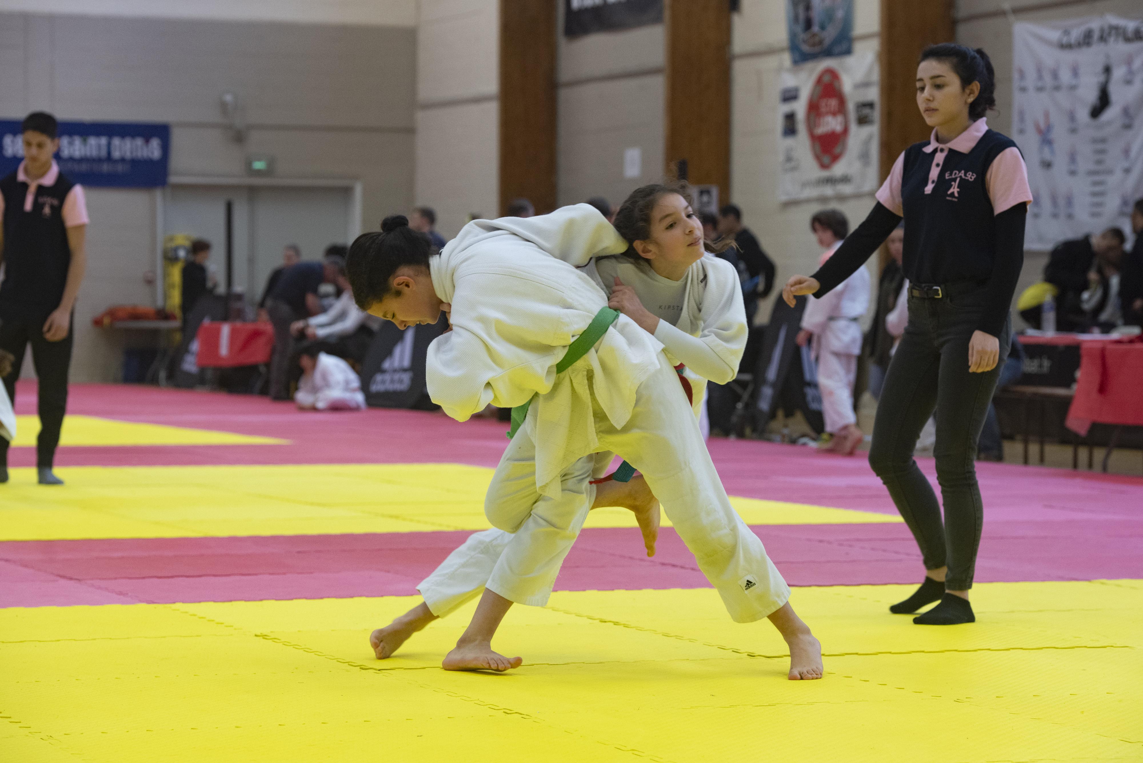 Compétition de judo Poussins-minimes gymnase Auguste Delaune, Montreuil